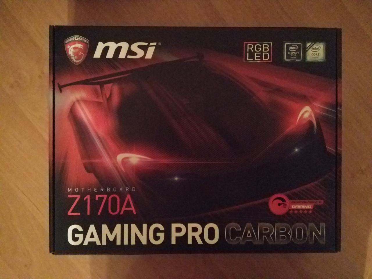 Материнская плата MSI Z170A Gaming Pro Carbon