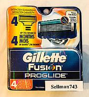 Gillette Fusion ProGlide лезвия из США x4