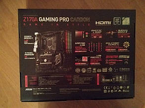 Материнская плата MSI Z170A Gaming Pro Carbon, фото 2