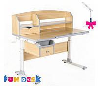 Детский стол-трансформер FunDesk Sognare Grey+лампа FunDesk L3
