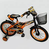 """Детский велосипед """"Racer-16"""" orange. 16 дюймов."""