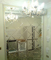 Плитка зеркальная с фацетом 10мм серебро 300*300 мм