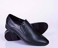 Мужские кожаные туфли, черный, от 40 до 45 р-ра