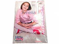 Колготки детские ALEKSANDRA  AMELIA 50den, цвет белый с узором,хорошее качество,купить оптом .