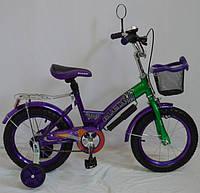 Детский велосипед Rueda GALLOP - 16 дюймов. фиолетовый.