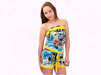 Детский комбинезон Wiktoria W35 желтый для девочки