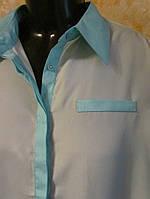 Стильная блузка- рубашка р.46  Германия