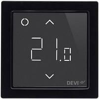 Wi-fi сенсорный программируемый регулятор для теплого пола DEVIreg Smart (черный) с датчиками пола и воздуха