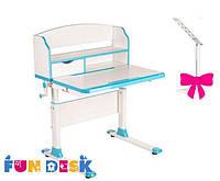 Детский стол-трансформер FunDesk Pensare Blue+лампа L2
