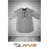 Льняная тениска на шнуровке DJIVA для мальчика. Размер: 92-128