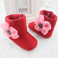 Пинетки сапоги Цветок (красн)  12