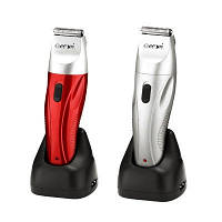 Триммер для бороды и усов Gemei GM 780: 3 Вт, режим тихой стрижки, аккумулятор, 3 насадки, 0,3-9 мм