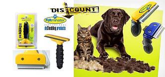 Щетка фурминатор для груминга крупных собак FUBnimroat лезвие 10-16 см