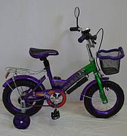 Детский велосипед , Rueda GALLOP - 12 дюймов (14,16,18) фиолетовый.
