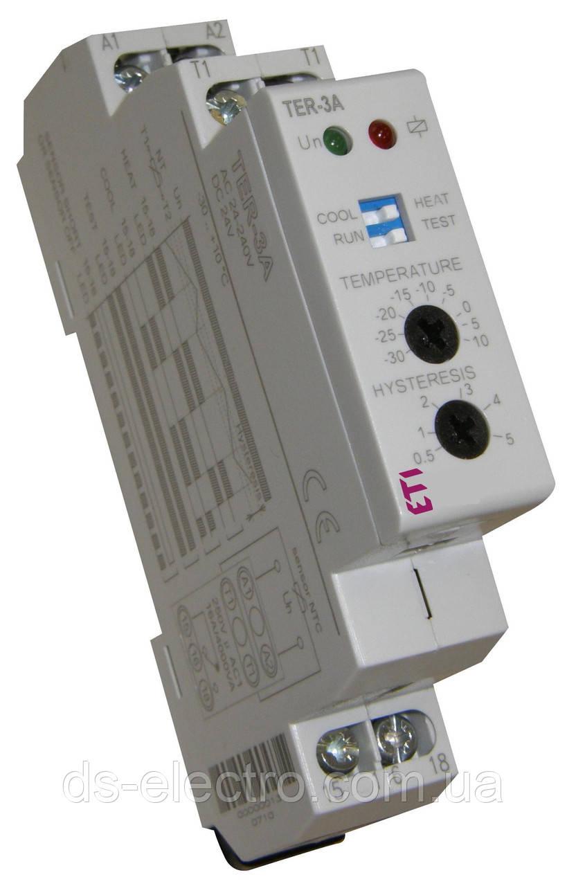 Термостат TER-3 С (+30...+70)  24-240 AC/DC (1x16A_AC1)