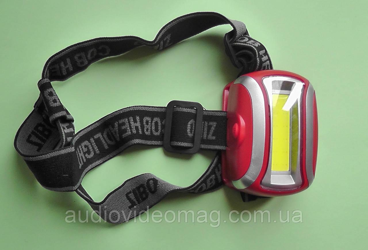 Мощный налобный фонарь 918, светодиодный, на батарейках