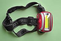 Мощный налобный фонарь 918, светодиодный, на батарейках, фото 1