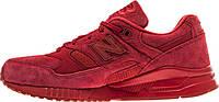 Женские кроссовки New Balance 530 Perforated Suede Red (Нью Баланс) красные