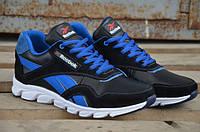 Мужские кожаные кроссовки Reebok 12003 сине-черные