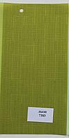 Тканевые ролеты Лен 7383 оливковый 40 см
