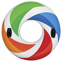 Надувной круг для плавания «Вихрь цвета» 58202 Intex, 119 см