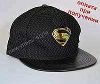 Мужская спортивная кепка бейсболка реперка хип хоп с прямым козырьком, фото 1