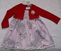 Платье на девочку с красным болеро , WANEX.