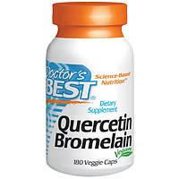 Кверцетин и Бромелайн 180 капс укрепление сосудов капилляров снижение холестерина онкопротектор  Doctor's Best