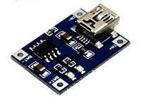 USB mini модуль заряда Li-ION аккумуляторов TP4056