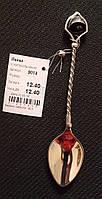 Ложка серебряная 925 пробы с колокольчиком