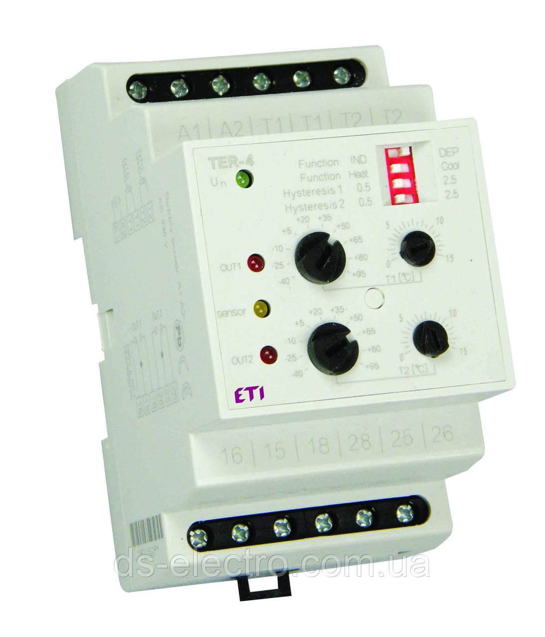 Термостат TER-4 230V (2x16A_AC1)