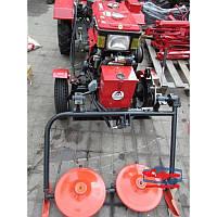 Косилка роторная на мотоблока-трактора с гидравликой