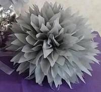 Бумажные помпоны 15 см. для оформления, острые края