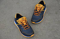 Мужские кожаные кроссовки Columbia 12006 темно-синие