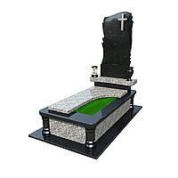 Памятник гранитный одиночный с надгробной плитой