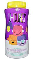 Solgar, U-Cubes, жевательные мультивитамины и минералы для детей, 120 жевательных конфет