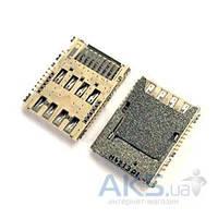 (Коннектор) Aksline Разъем карты памяти Samsung J200H Galaxy J2 Duos / J100H Galaxy J1 Original