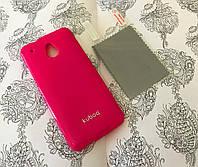 TPU чехол накладка Kuboq для HTC One Mini M4 розовый (+ плёнка и салфетка)