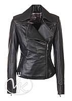 Черная кожаная куртка классика женская