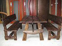 Стол деревянный Волна 2м  , фото 1