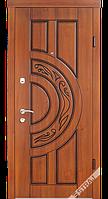 Входные металлические двери Berez STANDART модель Рассвет орех коньячный (улица)