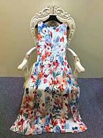 Платье  без рукава под пояс