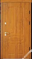 Входные металлические двери Berez STANDART модель В 60 дуб тёмный (улица)