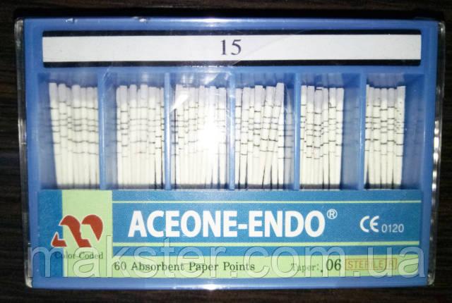 Штифты бумажные Aceone-Endo 0,6 № 15, фото 2