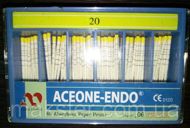 Штифты бумажные Aceone-Endo 0,6 № 20, фото 2