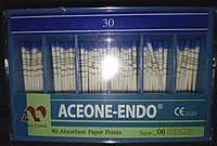 Штифты бумажные Aceone-Endo 0,6 № 30