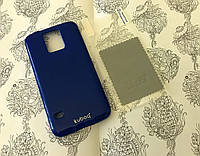 TPU чехол накладка Kuboq для Samsung Galaxy S5 синий (+ плёнка и салфетка)