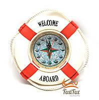 Круглые настенные часы Спасательный круг