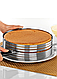 Раздвижное кольцо для нарезания бисквита на 9 коржей от 25 см до 32 см, фото 2