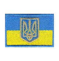 """Прапорець """"Синьо-жовтий"""" + липучка 6*4"""